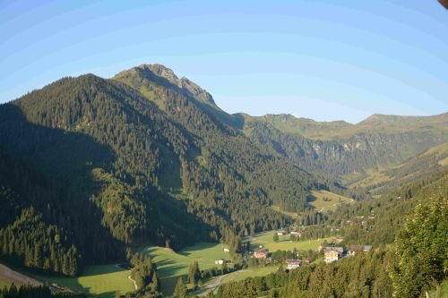 Traumhafte Aussicht Richtung Talschluss - Christianhof Saalbach