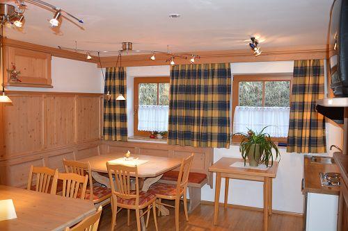 gemütlich, traditionell eingerichtete Bauernstube im Christianhof